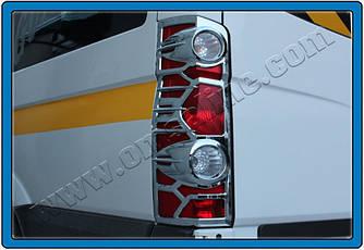 Накладки на стопи (2 шт., пласт) - Volkswagen Crafter 2006-2017 рр.