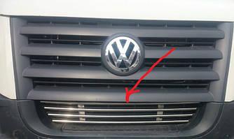 Решітка в бампер (нерж) - Volkswagen Crafter 2006-2017 рр.
