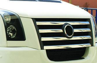 Накладки на решетку 2006-2011 - Volkswagen Crafter 2006-2017 гг.
