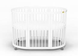 Детская овальная кроватка-трансформер 9 в 1 IngVart Baggybed Round (белый)