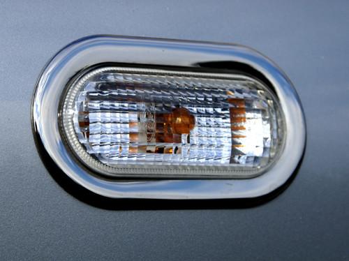 Накладки на поворотнички (2 шт., нерж) - Volkswagen Caddy 2004-2010 рр.
