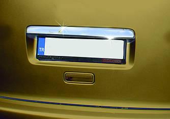 Накладка над номером (1 дверн, нерж) - Volkswagen Caddy 2010-2015 рр.