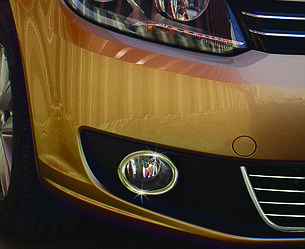 Накладки на противотуманки (2 шт, нерж) - Volkswagen Caddy 2010-2015 гг.