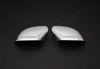Накладки на зеркала Вариант 2 (2 шт, пласт) - Volkswagen Caddy 2015+ гг.
