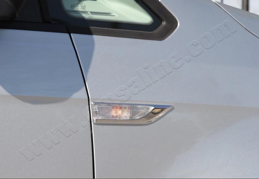 Накладки на поворотнички (2 шт, нерж) - Volkswagen Caddy 2015+ гг.