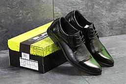 Мужские туфли Slat  из натуральной кожи классические под джинсы, черные, ТОП-реплика