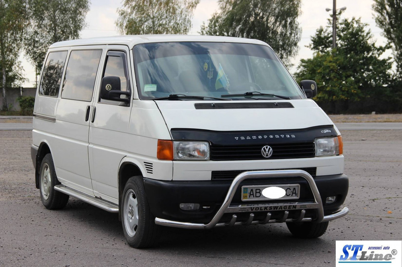 Кенгурятник WT003 Plus-1 (нерж) - Volkswagen T4 Caravelle/Multivan