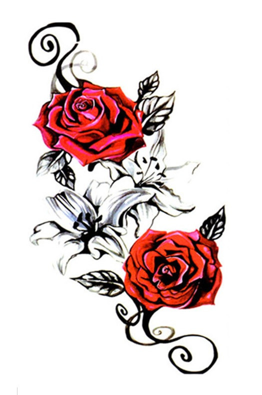 Переводное тату арт розы ТБ-158