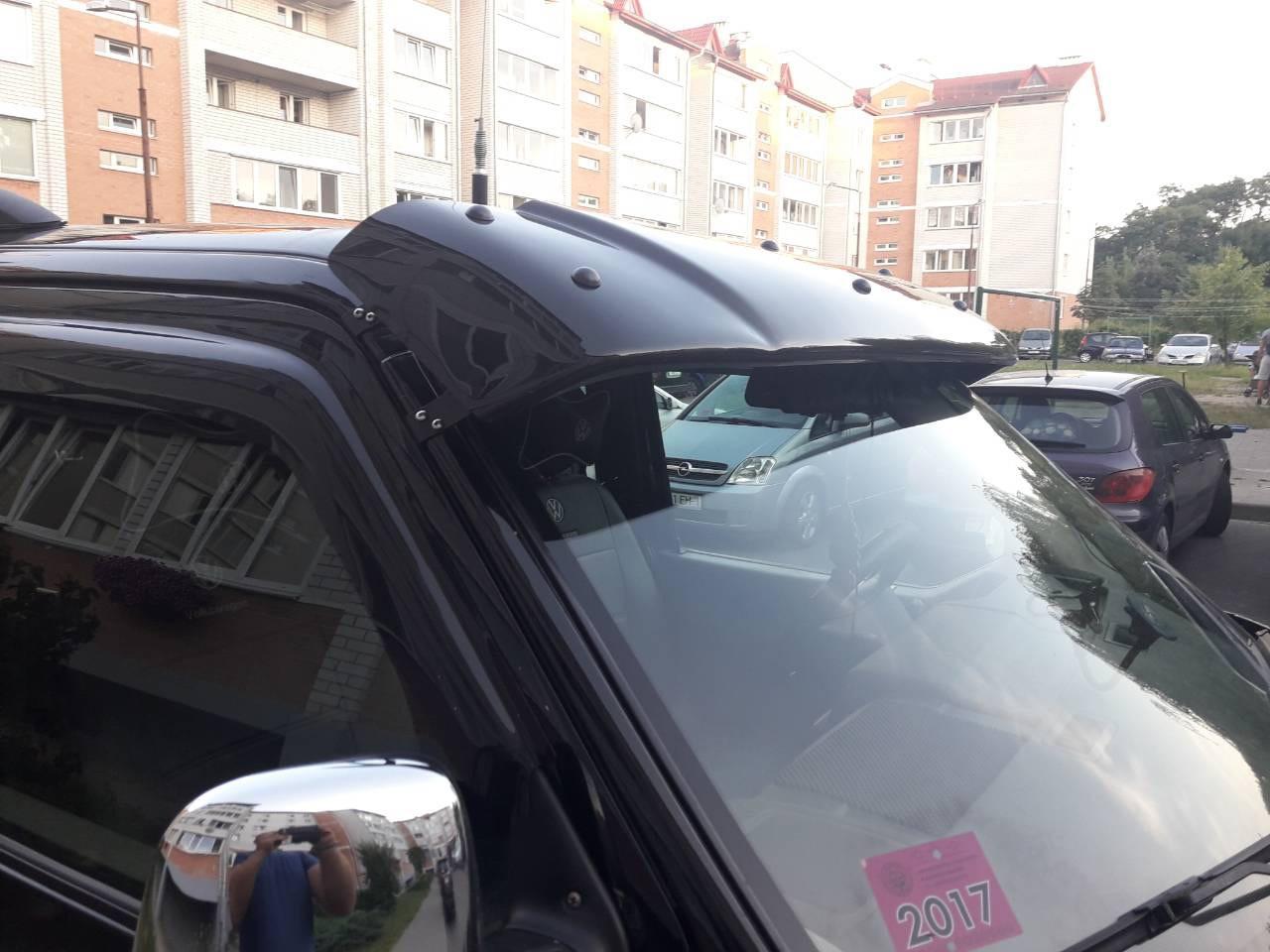 Дашок прозорий (чорний на кронштейнах) - Volkswagen T4 Caravelle/Multivan