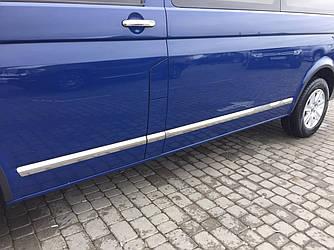 Молдинги на дверь (нерж) - Volkswagen T5 Transporter 2003-2010 гг.