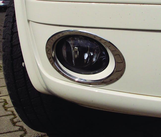 Окантовка на протитуманки (2 шт., нерж.) - Volkswagen T5 рестайлинг 2010-2015 гг.