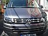 Накладки на решітку роздільні (Carmos, 4 шт, нерж.) - Volkswagen T5 рестайлінг 2010-2015 рр., фото 4