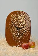 Часы настенные стеклянные Сова с позолотой