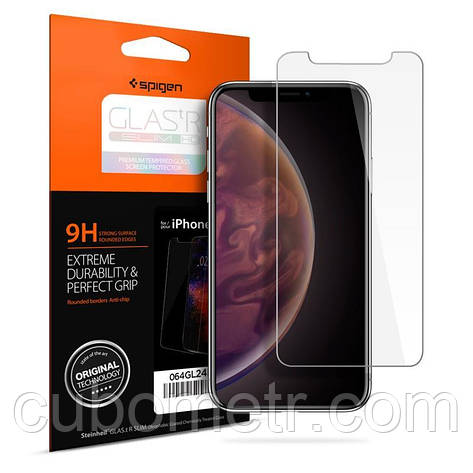 "Защитное стекло Spigen для iPhone XR Glass ""Glas.tR SLIM HD"" (1Pack), фото 2"