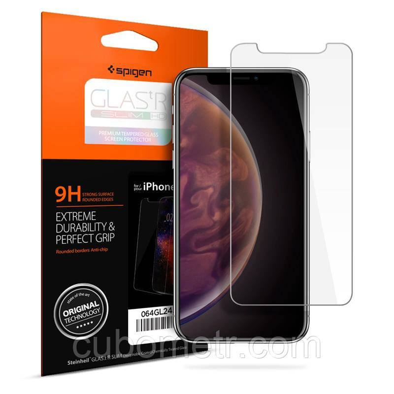 "Защитное стекло Spigen для iPhone XR Glass ""Glas.tR SLIM HD"" (1Pack)"