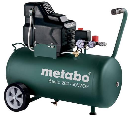 Компрессор Metabo Basic280-50WOFбезмасляный, фото 2