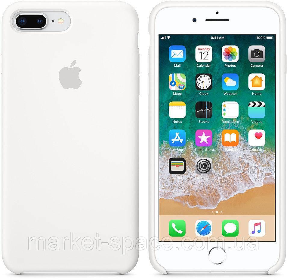 """Чехол силиконовый для iPhone 7 Plus/8 Plus. Apple Silicone Case, цвет """"Белый"""""""