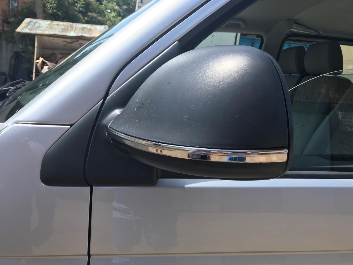 Смужки на дзеркала (2 шт., нерж) - Volkswagen T6 2015+ рр.