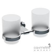 Аксессуары для ванной комнаты Ravak Держатель для щеток с двумя стаканом Ravak Chrome CR 220 X07P189