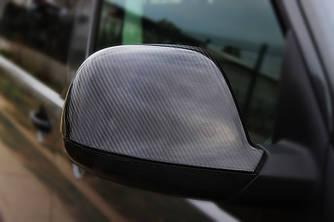 Накладки на дзеркала (2 шт, натуральний карбон) - Volkswagen Amarok