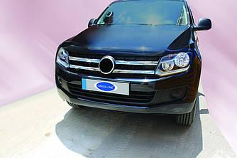 Накладки на решітку (широкі смужки, 4 шт, нерж) - Volkswagen Amarok