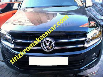 Накладки на решітку (вузькі смужки, 4 шт, нерж) - Volkswagen Amarok