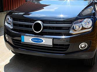 Накладки на фары противотуманные (2 шт, нерж) - Volkswagen Amarok
