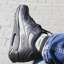 Мужские кроссовки Nike Air Max 90 Leather Black 302519-001 bfbc0646c33fe