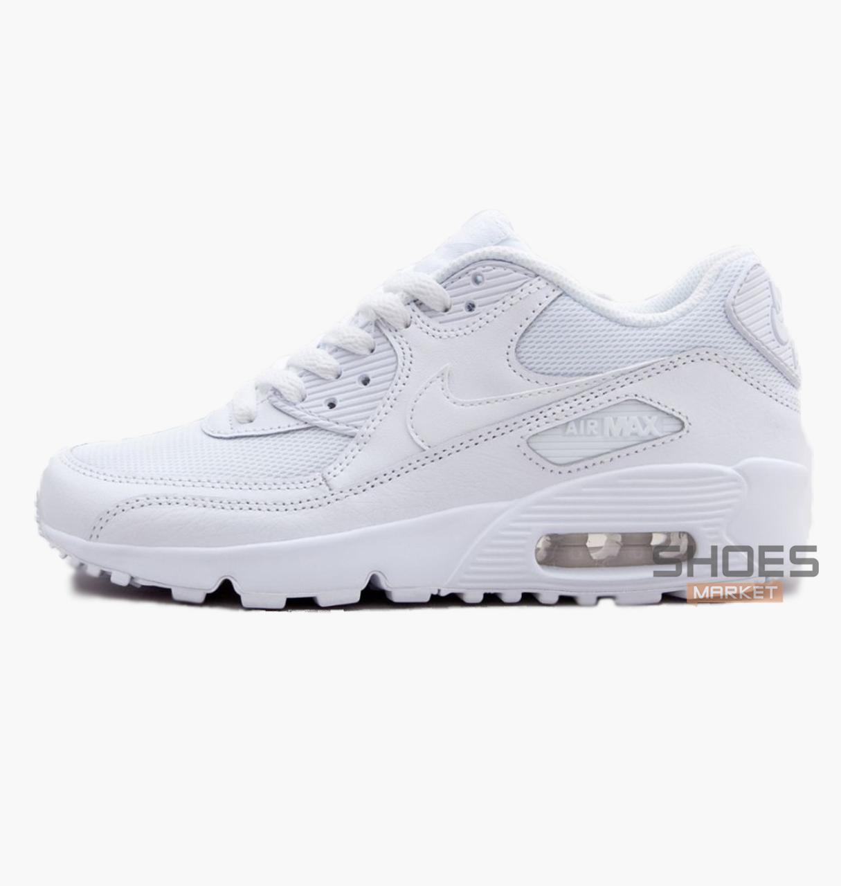 Женские кроссовки Nike Air Max 90 Mesh (GS) White 833418 100, оригинал