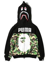 Худи Bape x Puma (толстовка, кофта с капюшоном мужская женская)
