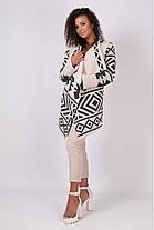 Милая женская кофта кардиган с узорами без застежки 44-52 универсальный размер, фото 3