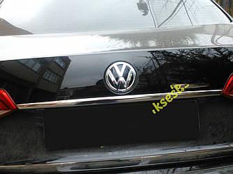 Накладка над номером (нерж) - Volkswagen Jetta 2011+ рр.