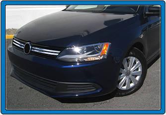 Накладки на решетку 2011-2014 (4 шт, нерж) - Volkswagen Jetta 2011+ гг.