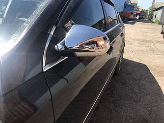 Накладки на зеркала (2 шт, нерж) - Volkswagen Passat B6 2006-2012 гг.