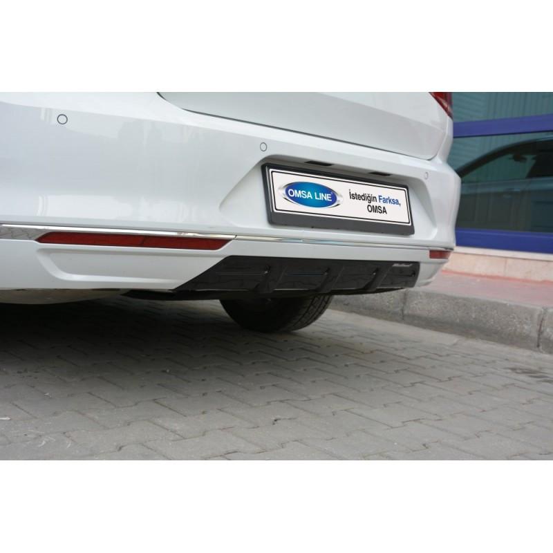 Задний диффузор (под покраску) - Volkswagen Passat B8 2015+ гг.