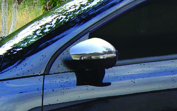 Накладки на дзеркала HB (2 шт., нерж) - Volkswagen Polo 2009-2017 рр.