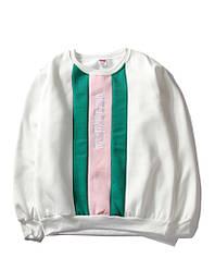 Белый свитшот Supreme с вертикальным логотипом (толстовка суприм мужская женская)