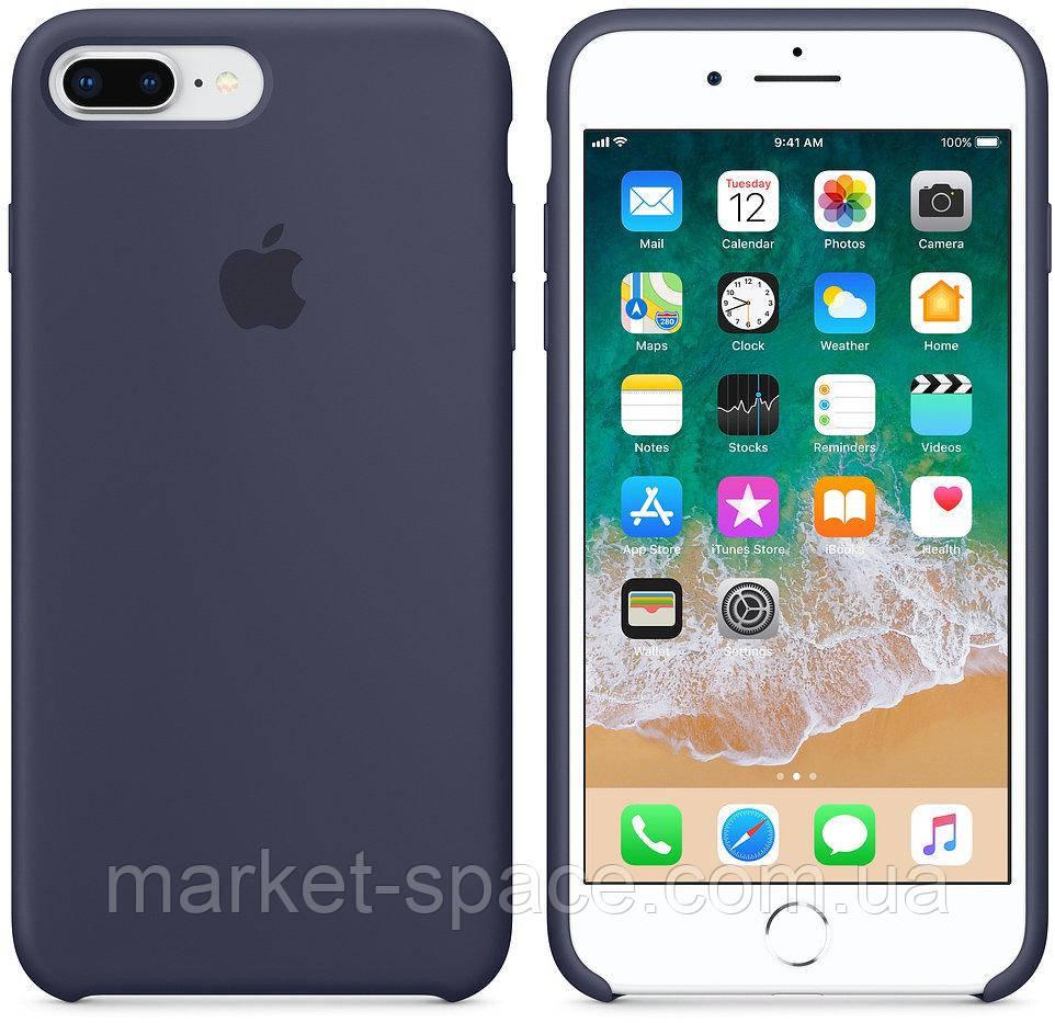 """Чехол силиконовый для iPhone 7 Plus/8 Plus. Apple Silicone Case, цвет """"Тёмно-синий"""""""