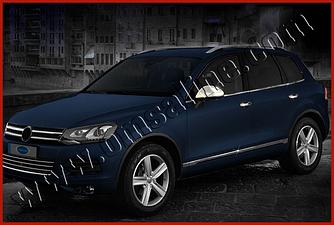 Нижний молдинг стекла (6 шт, нерж) - Volkswagen Touareg 2010+/2015+ гг.