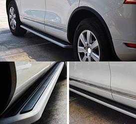 Боковые площадки под Оригинал V2 (2 шт., алюминий) - Volkswagen Touareg 2010+/2015+ гг.