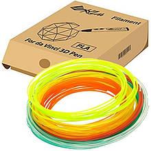 Набор нити 1.75мм PLA XYZprinting для ручки 3D (6 цветов)