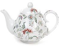 Заварочный фарфоровый чайник Bona Альпийский сад 1000 мл Белый с рисунком BD-XX953-Fpsg, КОД: 295908