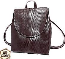 Женская сумка-портфель 3D из натуральной кожи Коричневого цвета, модельный ряд 2019