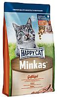 Happy Cat Minkas - сухой корм для для взрослых кошек с птицей
