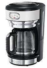 Кофеварка Russell Hobbs 21703-56 Retro, 1000 Вт, шкала времени сохранения вкуса, Белый