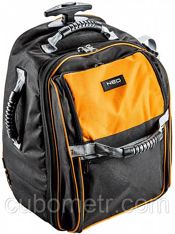 Рюкзак для инструментов Neo Tools на колесах, 20 кармано, телескоп.ручка, фото 2