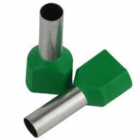 Наконечник 2х6мм2 14мм зеленый TE6014 втулочный трубчатый изолированный (100шт)