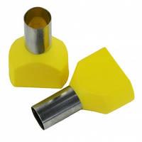 Наконечник 2х16мм2 14мм желтый TE16-14 втулочный трубчатый изолированный (100шт)
