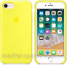 """Чехол силиконовый для iPhone 7/8. Apple Silicone Case, цвет """"Жёлтый неон"""", фото 3"""