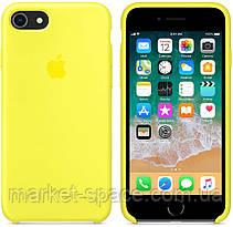 """Чехол силиконовый для iPhone 7/8. Apple Silicone Case, цвет """"Жёлтый неон"""", фото 2"""